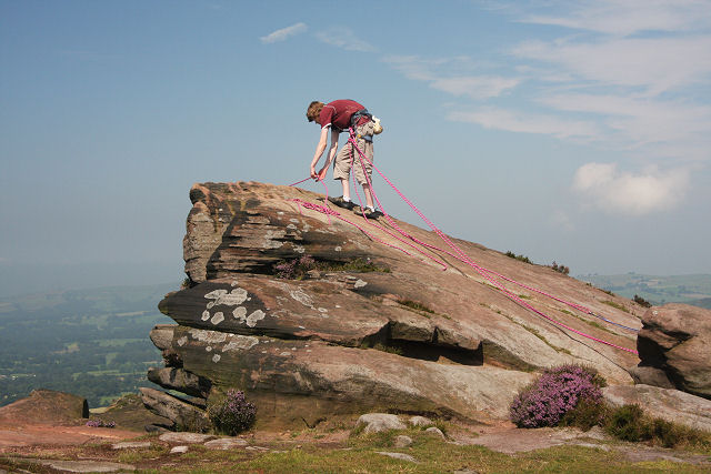 Rock climber on The Roaches - geograph.org.uk - 906629