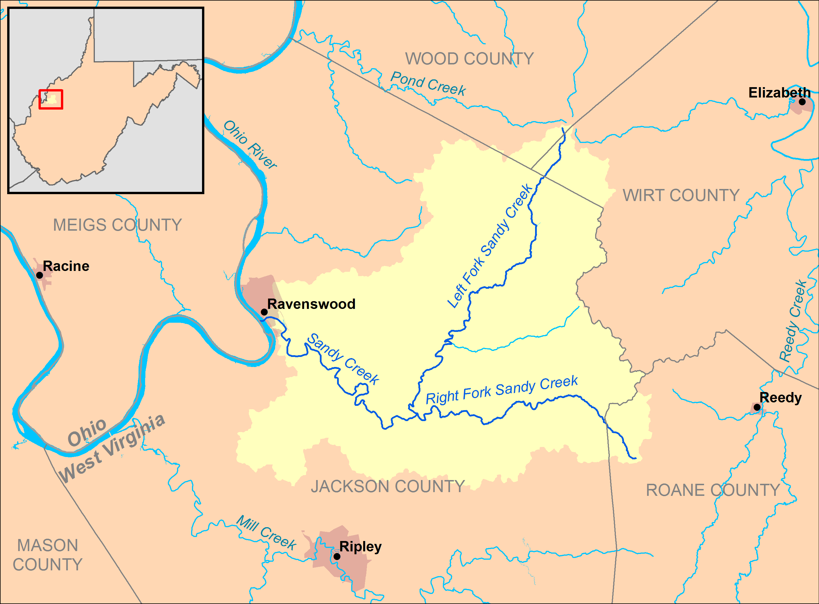 FileSandy Creek Ohio River Mappng Wikimedia Commons - Ohio river map