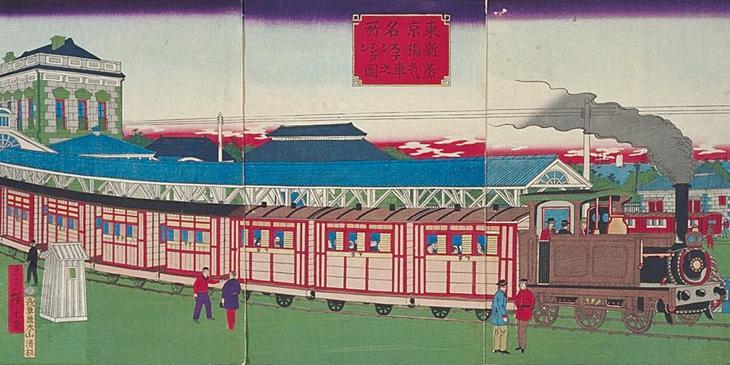 Shimbashi Station Hiroshige III