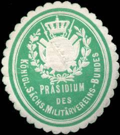 File:Siegelmarke Präsidium des königlich sächsischen Militärvereins - Bundes W0209487.jpg