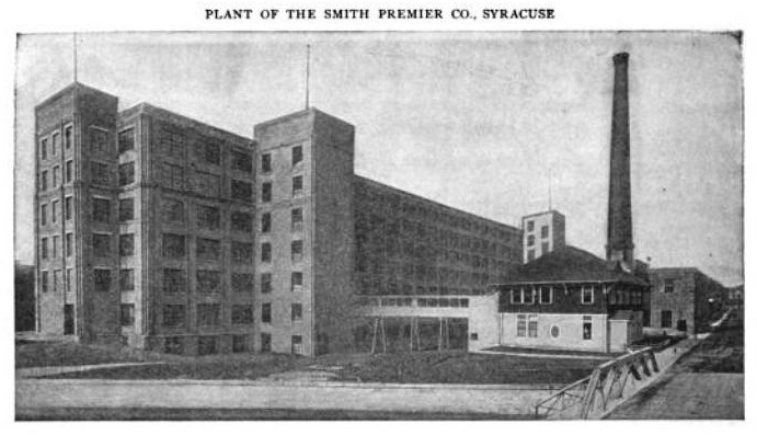 Smith Premier Typewriter - Syracuse plant in 1904