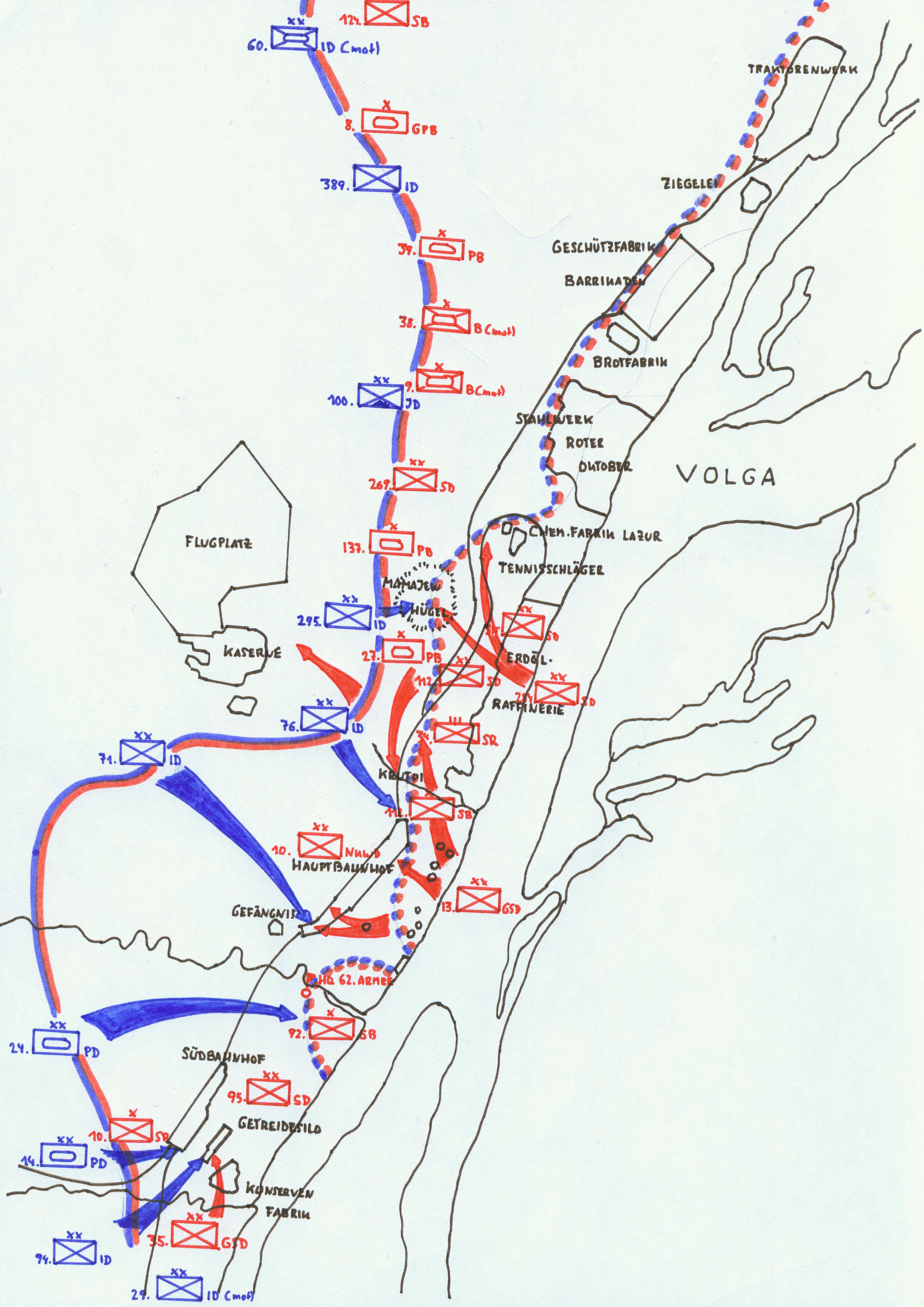 Schlacht Um Stalingrad Karte.Angriff Auf Stalingrad Wikipedia