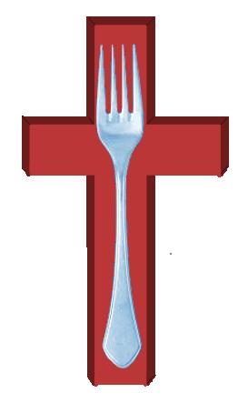 Tenedor crucificado