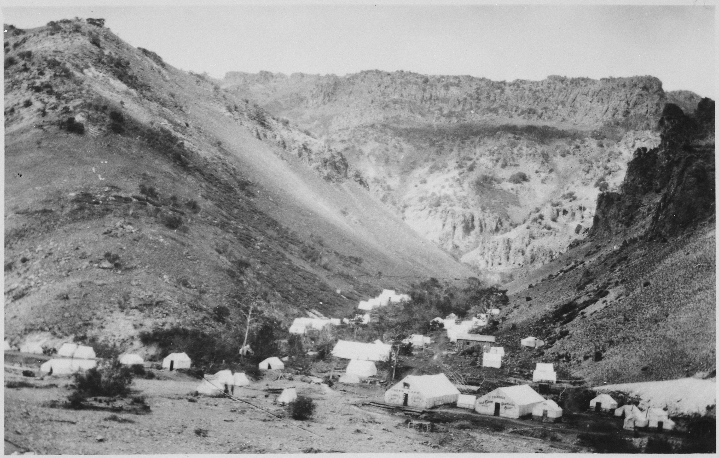 FileTent town in a mountain valley in Idaho. By Burt L. Wheeler & File:Tent town in a mountain valley in Idaho. By Burt L. Wheeler ...