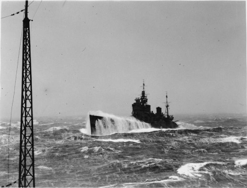 Image result for destroyer in rough seas world war 2