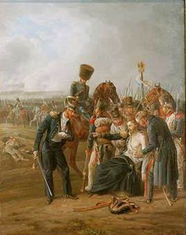 File:The wounded General Jean Rapp in the battle of Borodino jpg