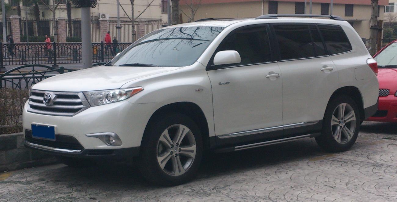 Toyota Highlander Wiki >> File Toyota Highlander Xu40 Facelift 02 China 2013 02 25 Jpg