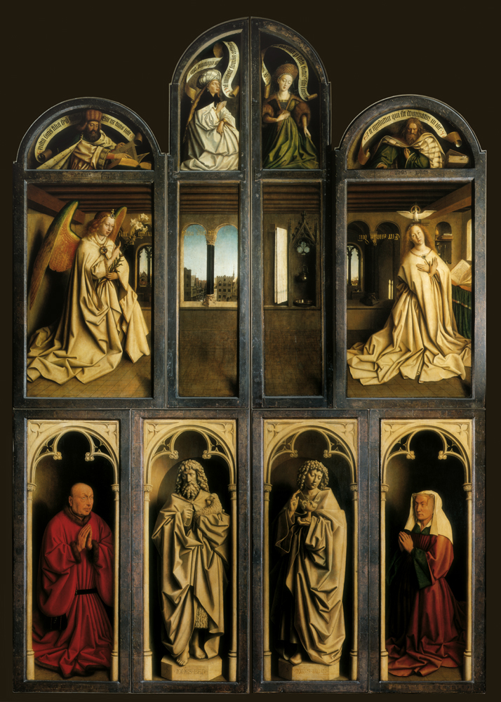 back panel ghent altarpiece with interior view wikidata