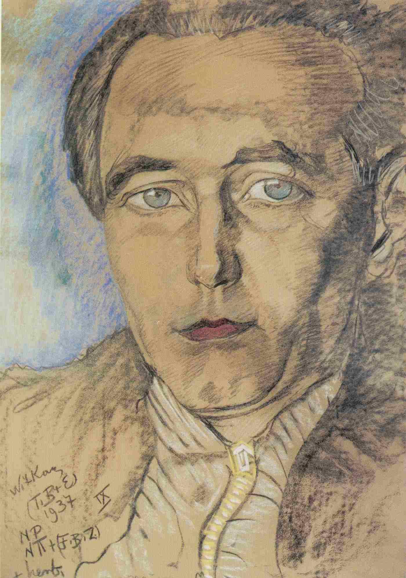 Portrait of Roman Ingarden by [[Stanisław Ignacy Witkiewicz|Witkacy]]