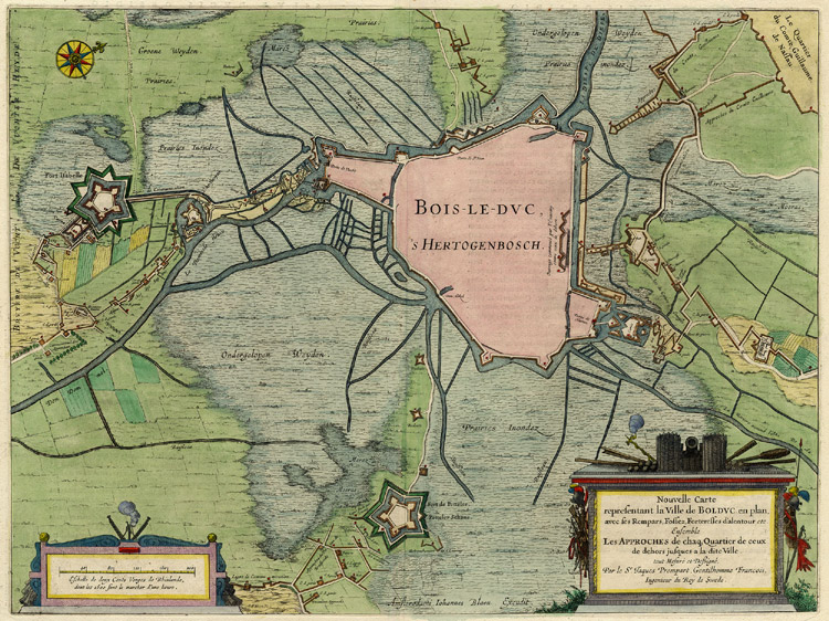 's Hertogenbosch 1649 Blaeu''