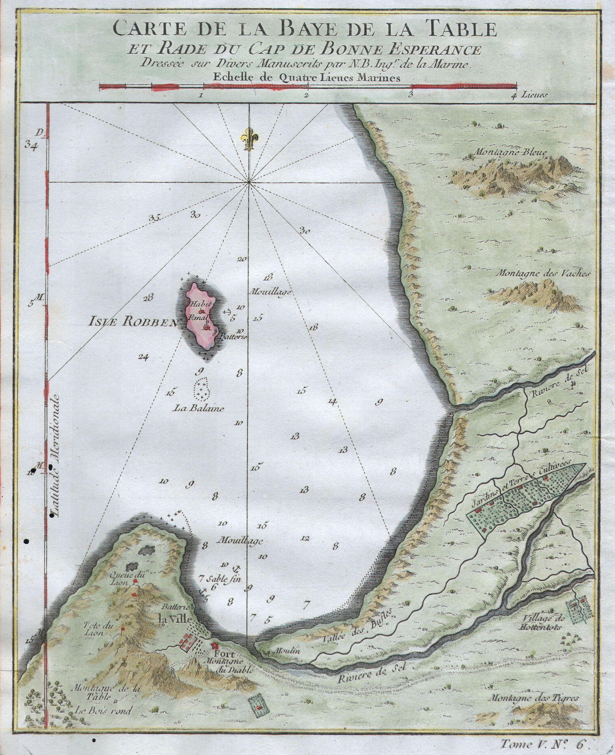 File:1764 Bellin Map of Cape Town (Cape of Good Hope) - Geographicus ...
