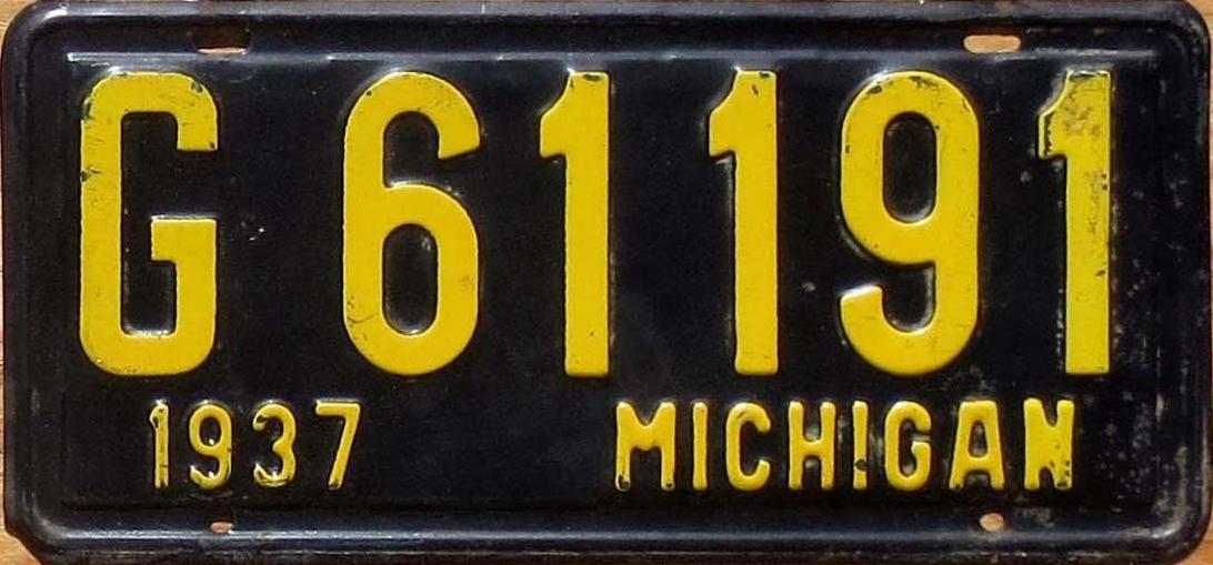 File:1937 Michigan license plate.jpg - Wikimedia Commons