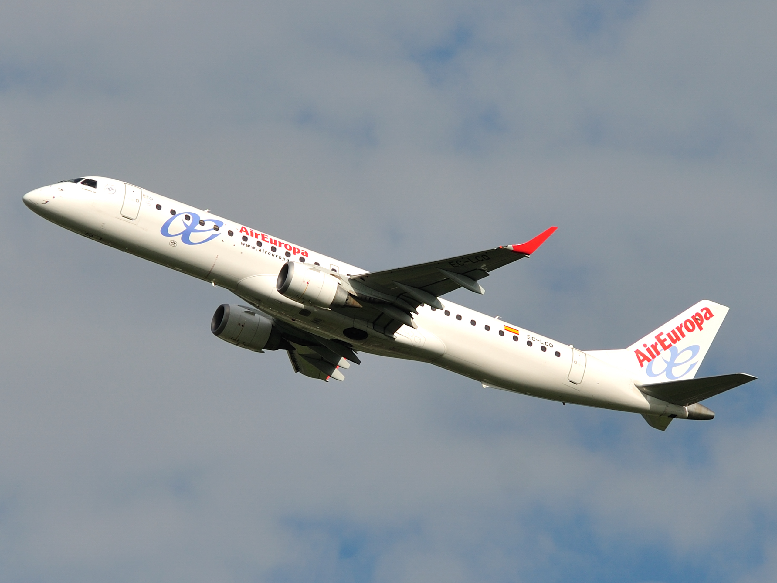 Description Air Europe Embraer 195 Ec Lcq