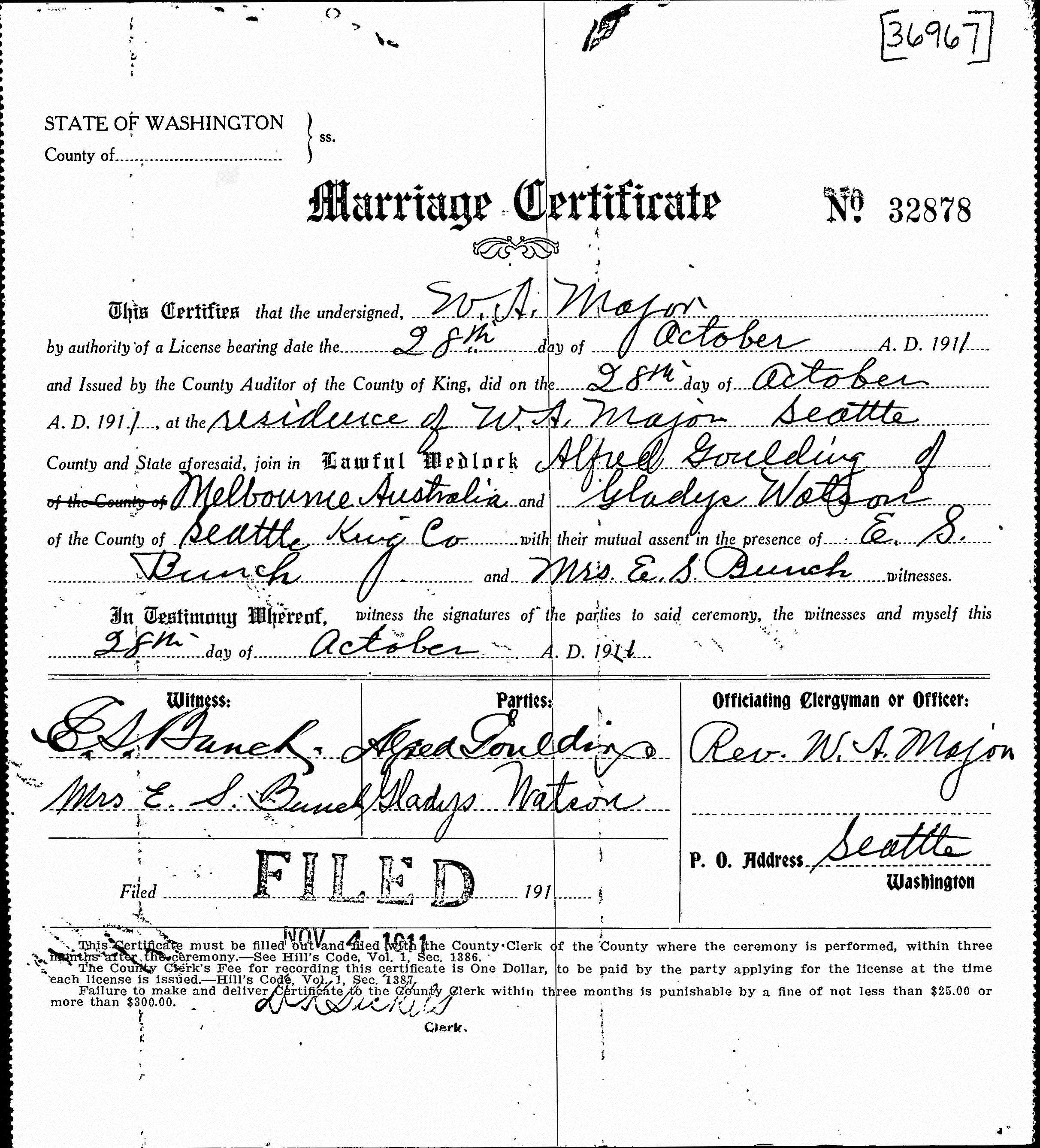 Filealfred John Goulding And Gladys Watson Marriage Certificate