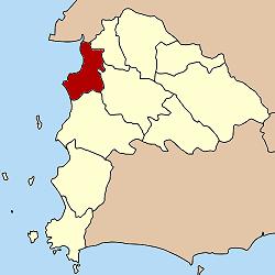 แผนที่จังหวัดชลบุรี เน้นอำเภอเมืองชลบุรี