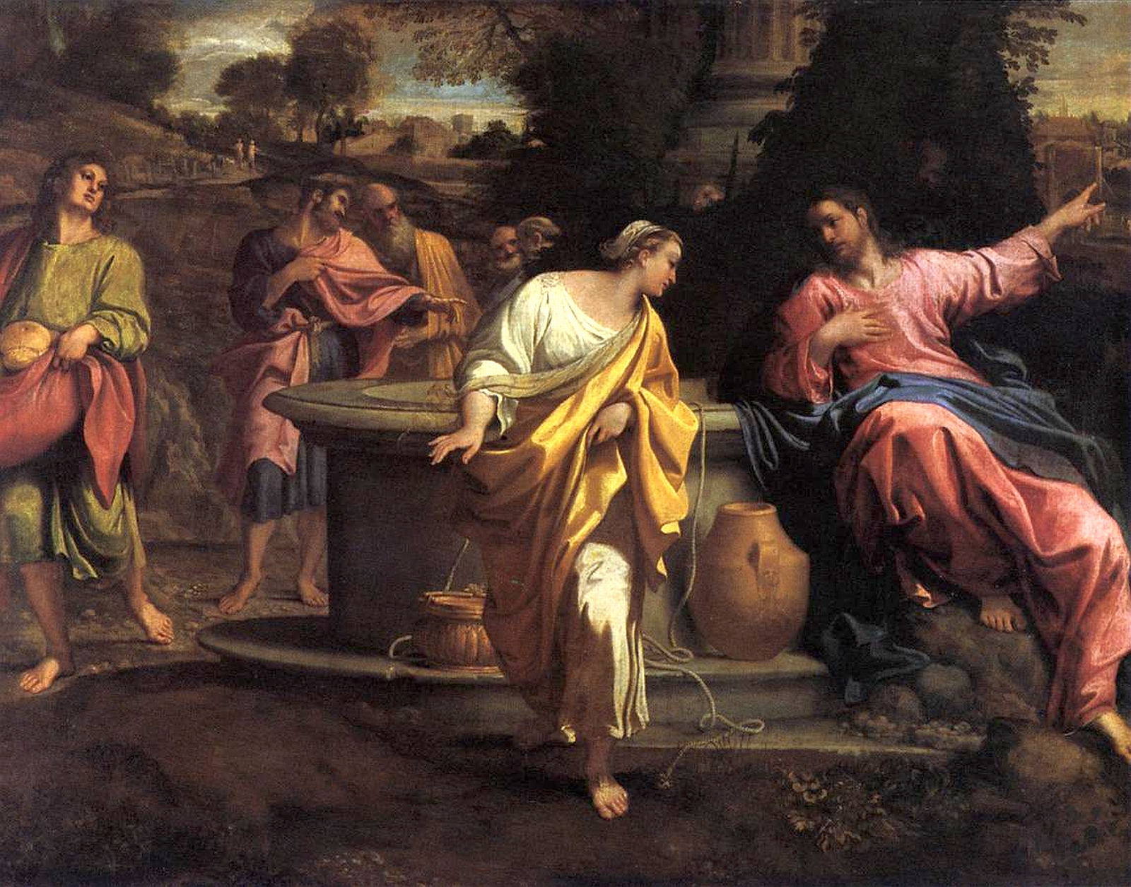 Samaritan womans meets Jesus at the Well, by Annibate Carracci