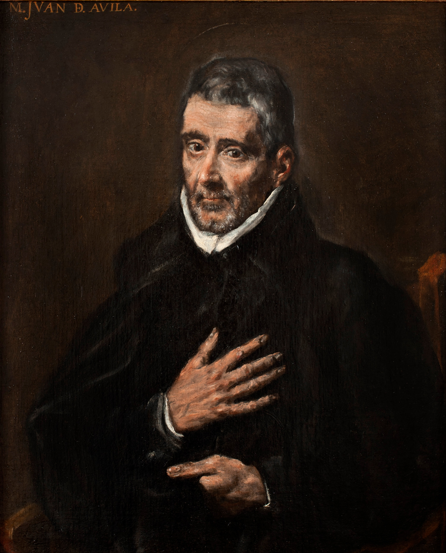 Portrett av Johannes av Ávila (1580), tilskrevet Domenikos Theotokopoulos (El Greco) (1541-1614)