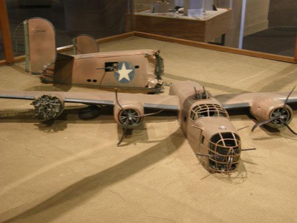 File:B-24 Lady Be Good diorama at Lone Star Flight Museum