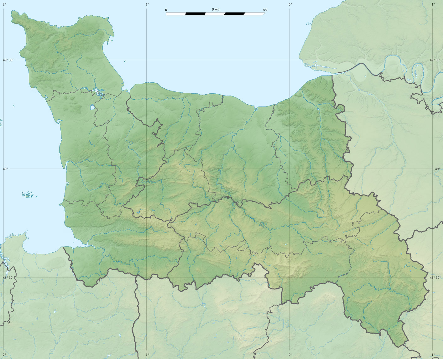 FileBasseNormandie region relief location mapjpg  Wikimedia