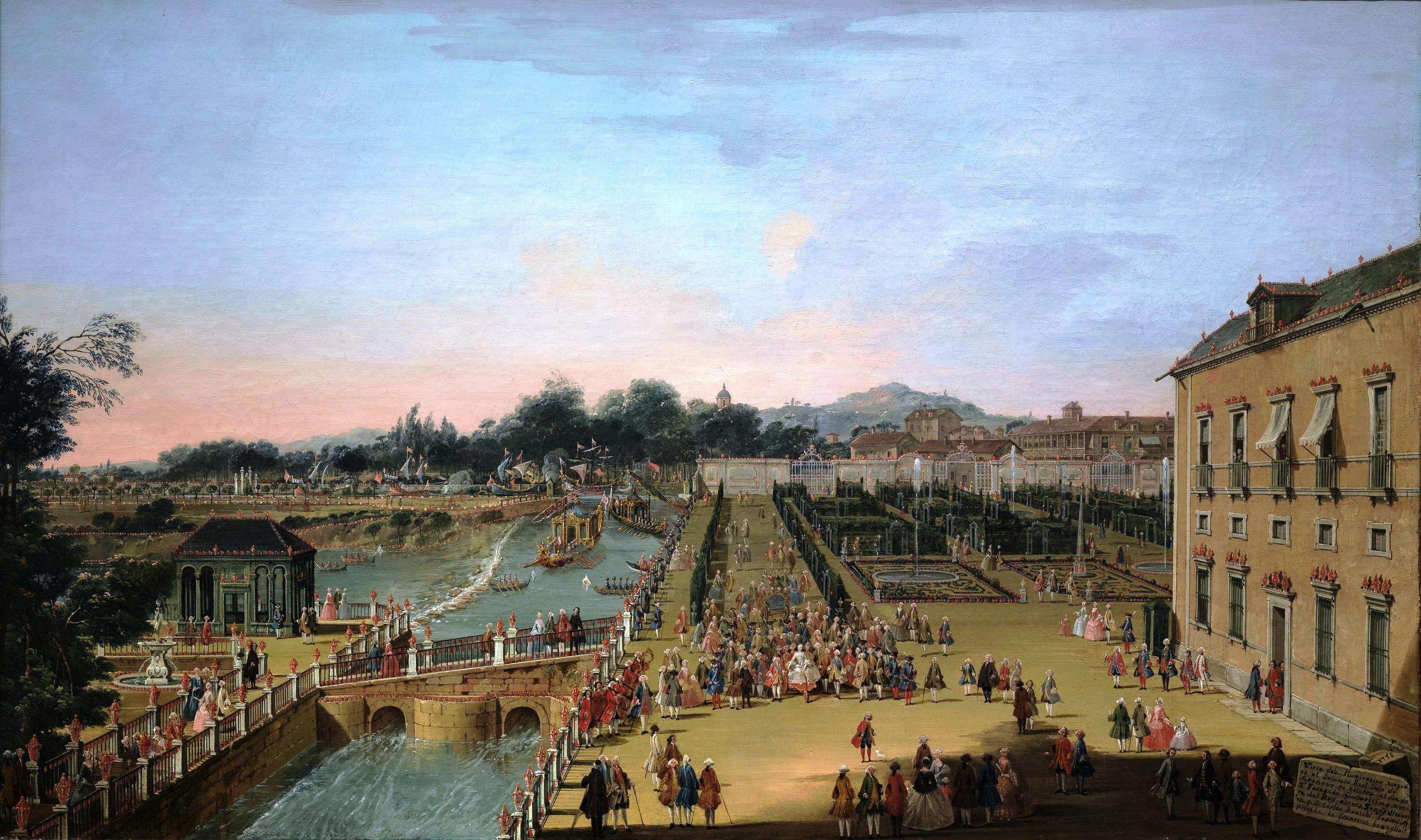 File:Battaglioli - Fernando VI y Bárbara de Braganza en los jardines de  Aranjuez (