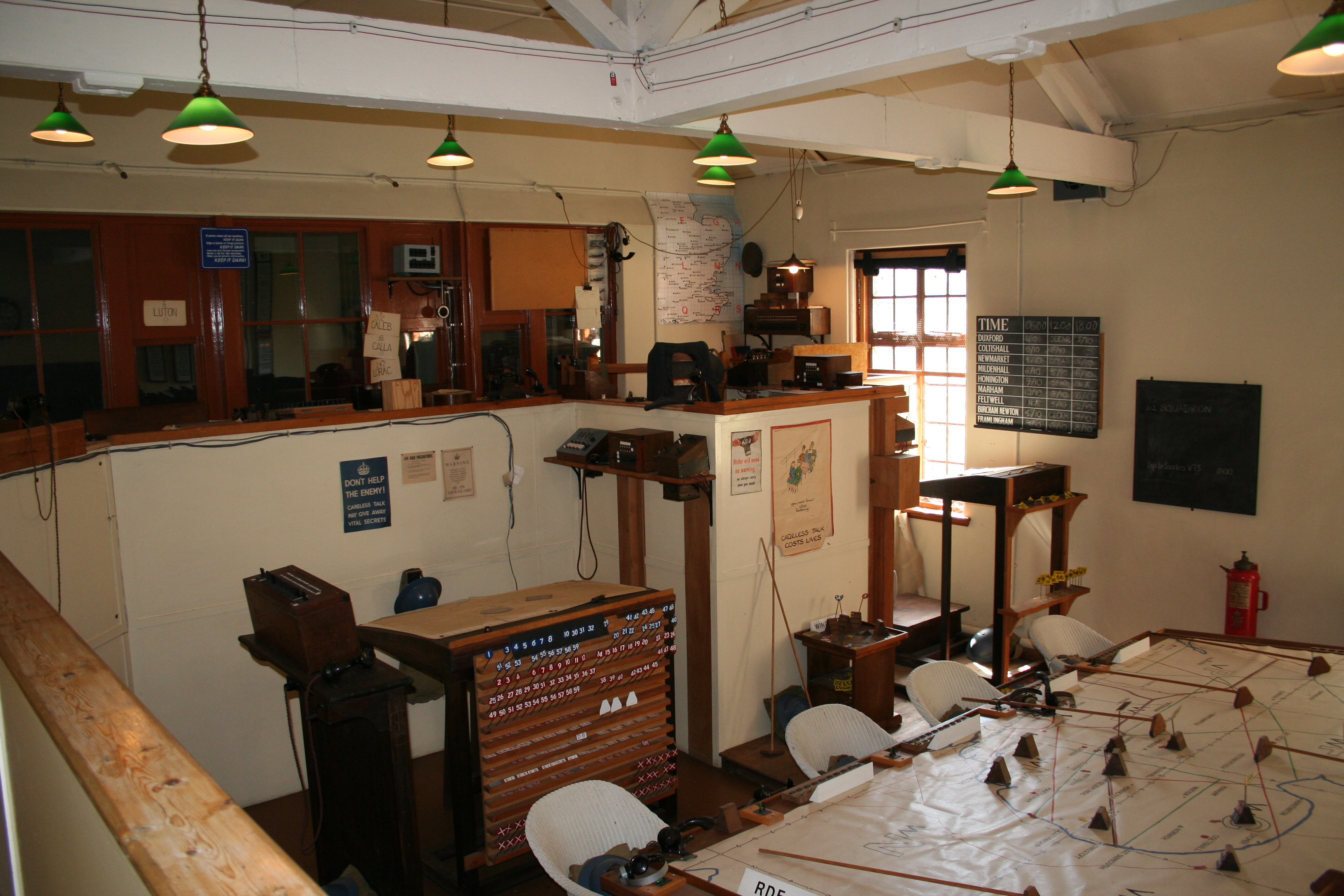 File Battle Of Britain Operations Room Raf Duxford Jpg