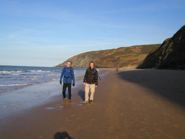 Beach between Tresaith and Penbryn - geograph.org.uk - 1626110