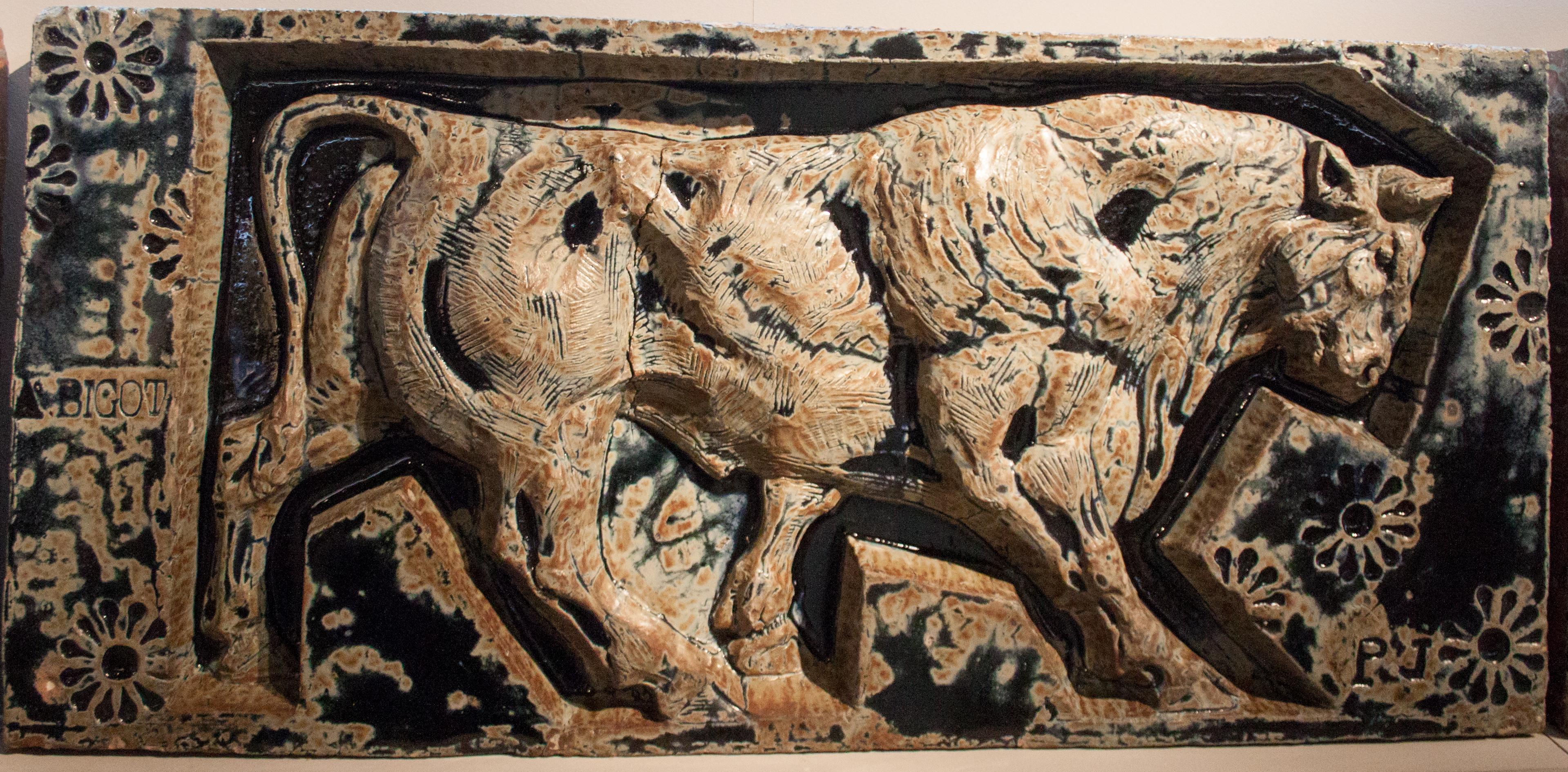 file bigot bull detail from the animal frieze series of the porte monumentale paris. Black Bedroom Furniture Sets. Home Design Ideas