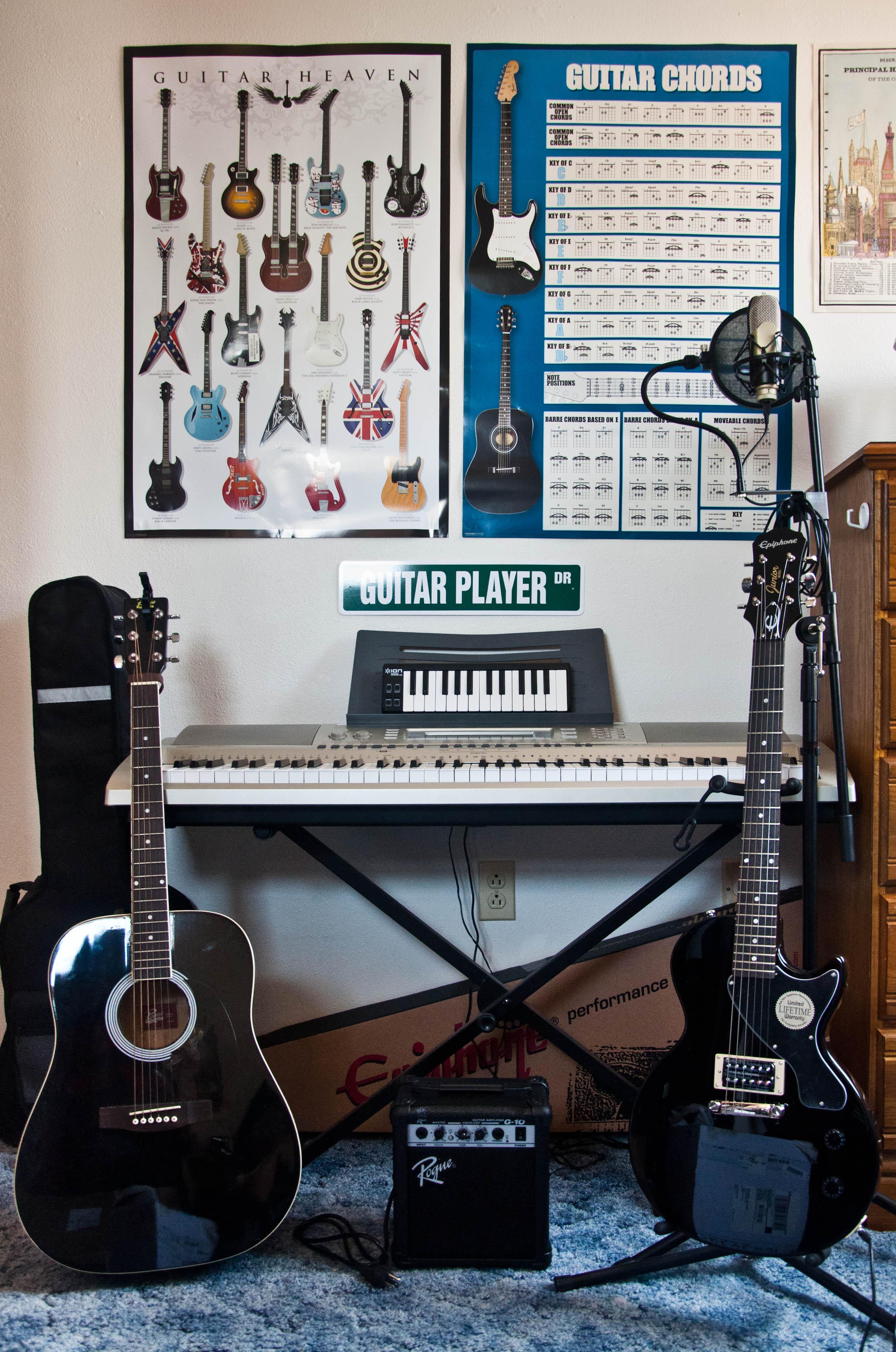 Guitar Chord Charts: Boonlee897s home studio.jpg - Wikimedia Commons,Chart
