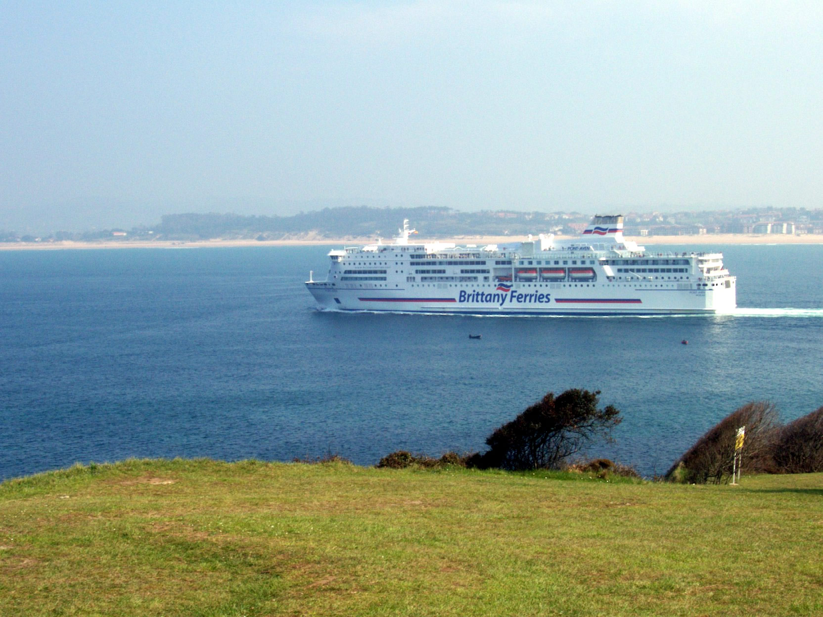 Brittany Ferries' MV Pont-Aven off the coast of Santander