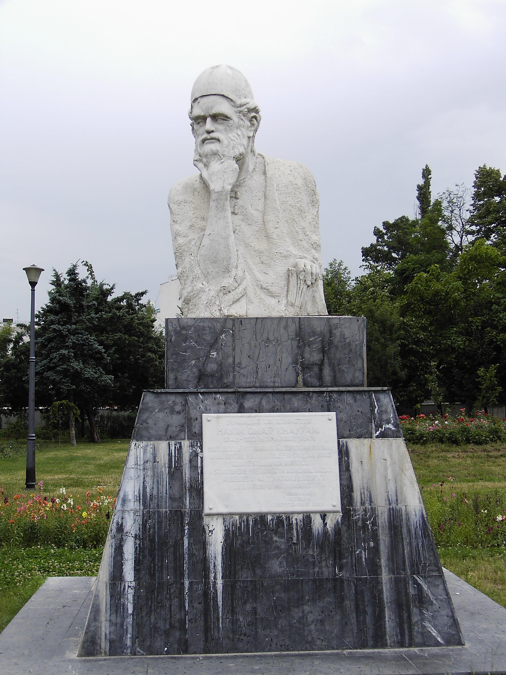 Monumento a Omar Jayam en Bucarest, Rumania.