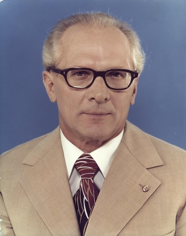 Depiction of Erich Honecker