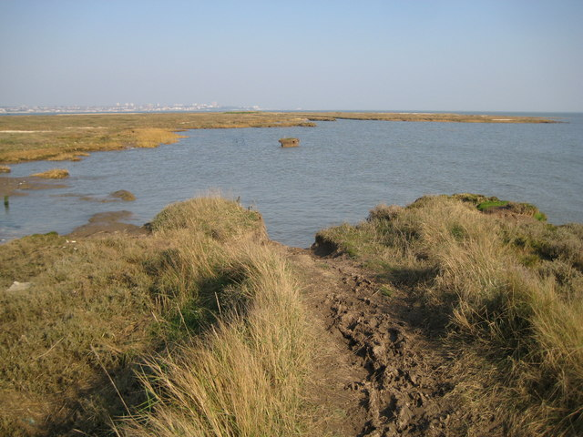 Canvey Island, Footpath to Canvey Point (2) - geograph.org.uk - 2306146