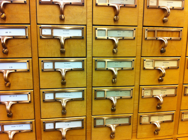 An old card catalog