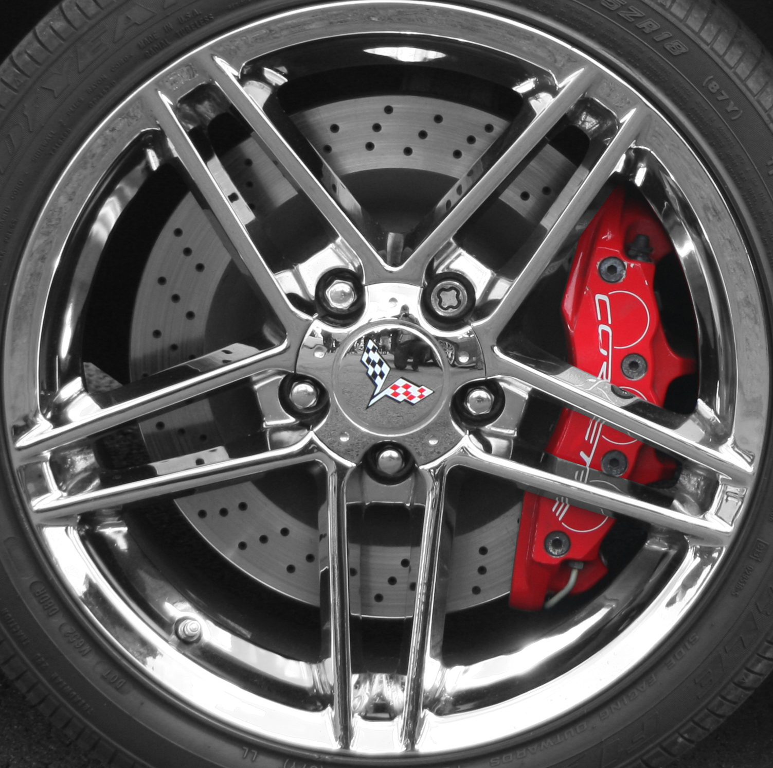 file chevrolet corvette z06 wheel flickr. Black Bedroom Furniture Sets. Home Design Ideas