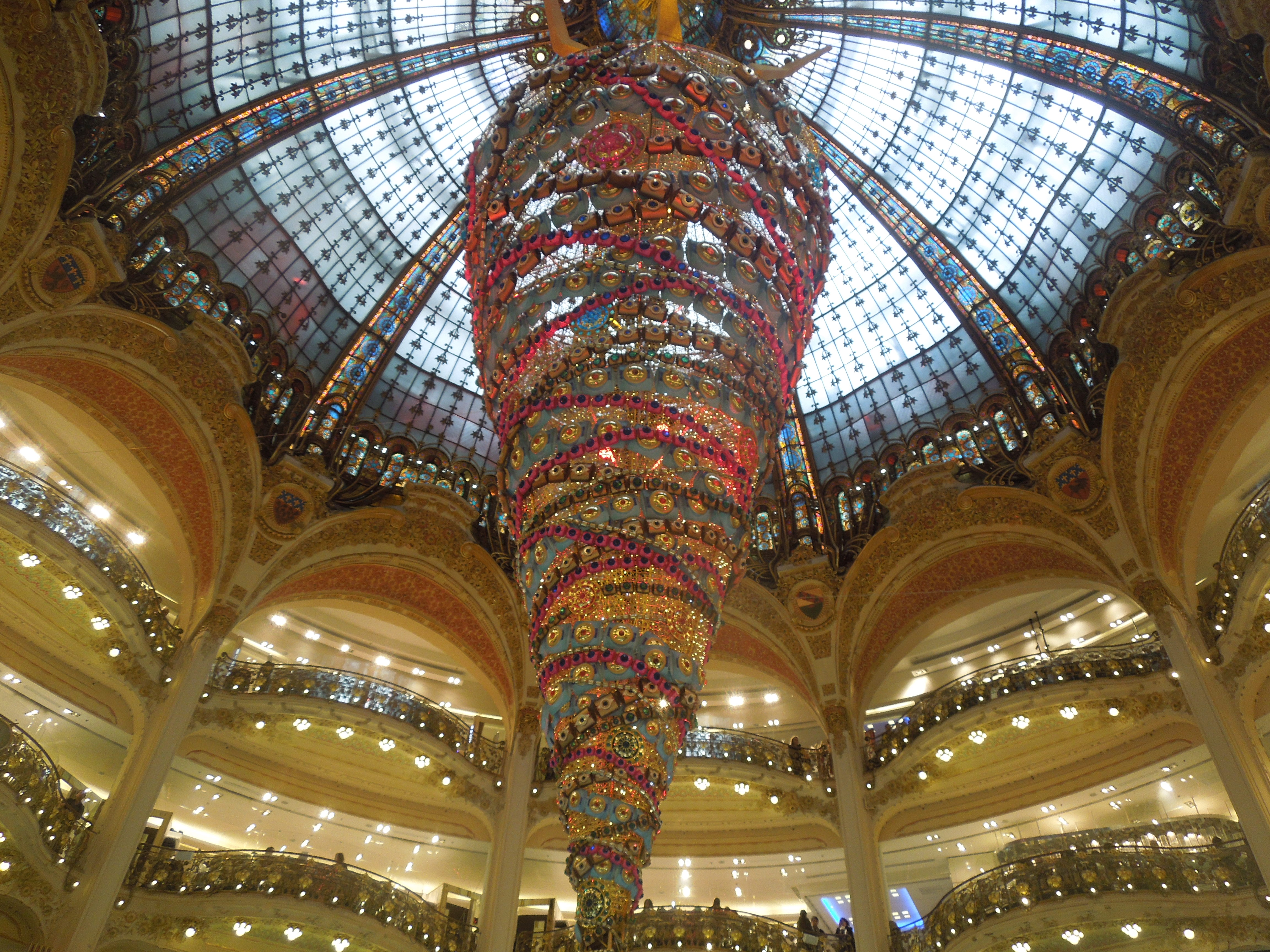 Christmas Paris France.File Christmas Decoration In Galeries Lafayette Paris France