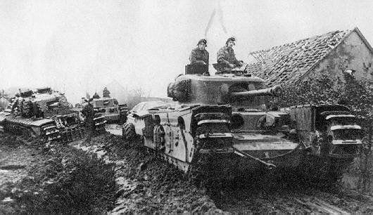 Churchill VII Crocodile, Holland, winter 1944/45 - Credits : Wikipedia