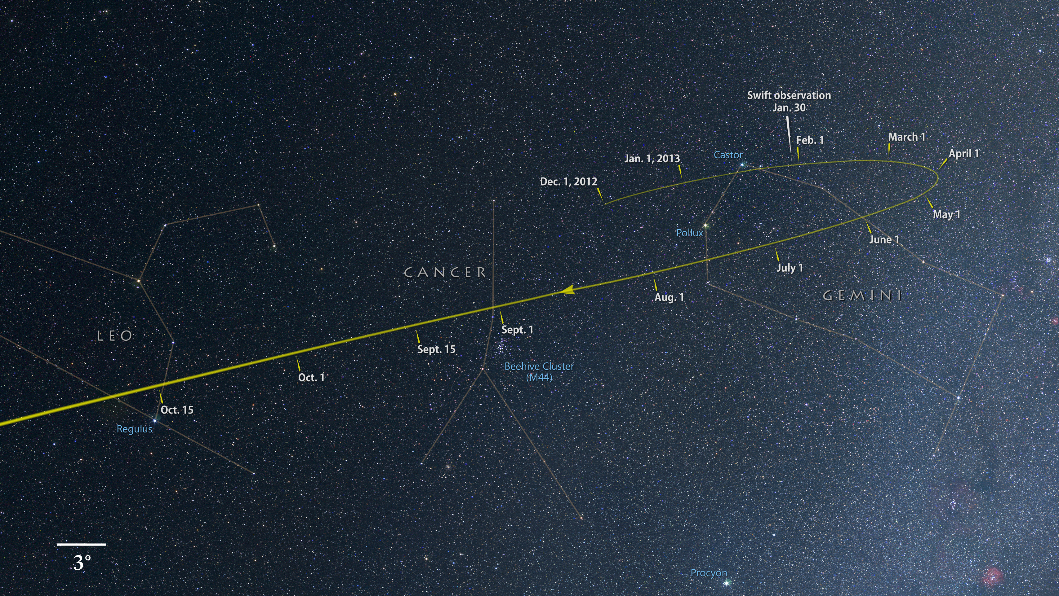 http://upload.wikimedia.org/wikipedia/commons/2/2f/Comet_ISON_tracks_through_the_constellations_Gemini%2C_Cancer_and_Leo_as_it_falls_toward_the_sun.jpg