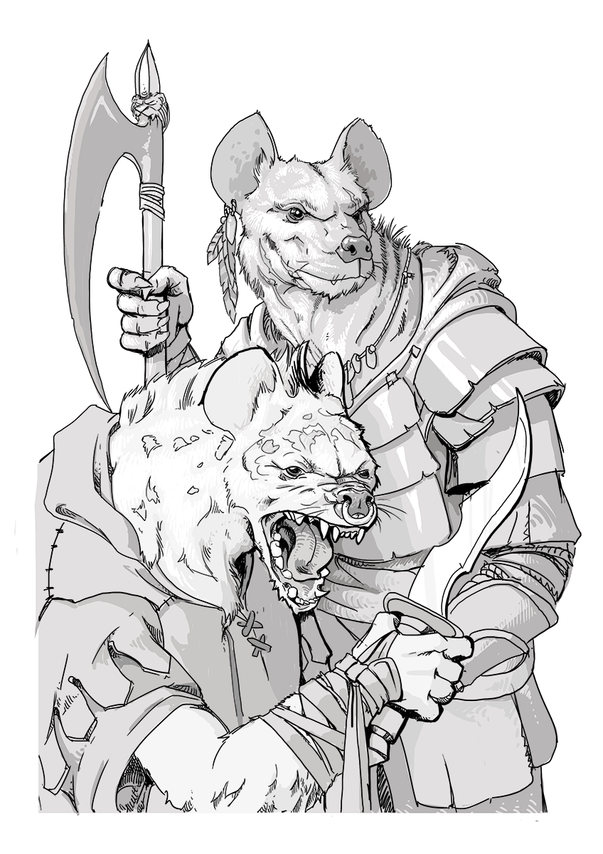 D Line Drawing Game : Gnoll wikipedia