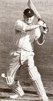 Dudley Nourse, who scored 2960 Test runs in 34 Tests at 53.81 and had 9 centuries to his credit, at the time a national record Dudley Nourse.jpg