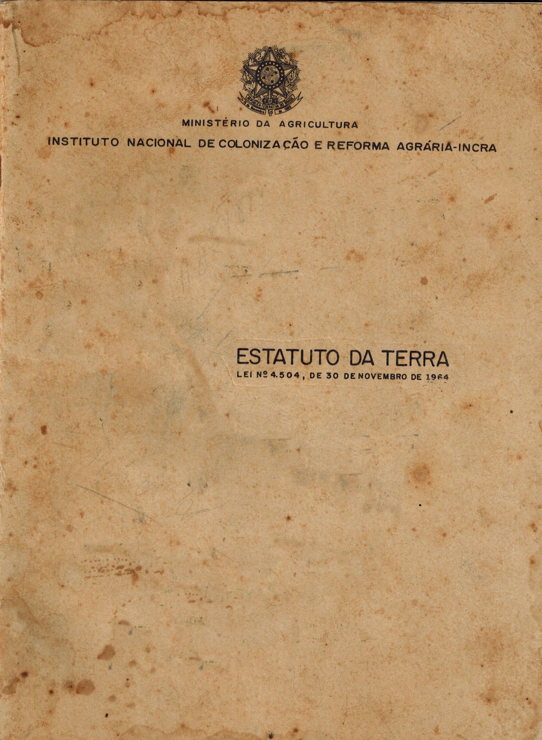 Estatuto da terra comentado pdf