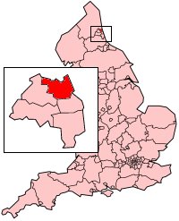 North Tyneside within Tyne and Wear and England