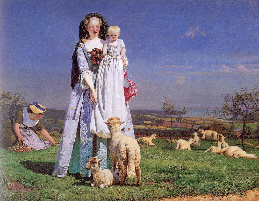 Datei Ford Madox Brown The Pretty Baa Lambs Jpg Wikipedia