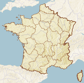 Map highlighting the commune of