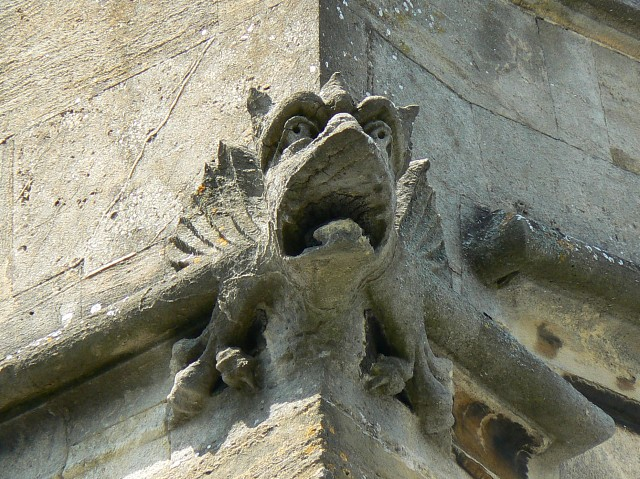 Gargoyle on the Church of St Nicolas in Newbury