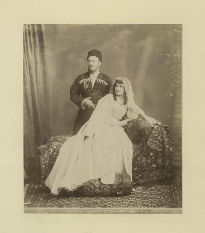 File:Georgian man and woman (Gruzin i gruzinka).jpg ...