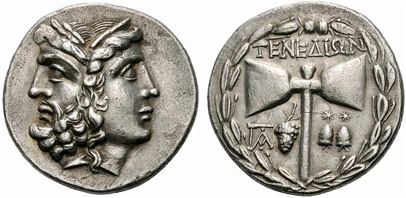 File Greek Silver Tetradrachm Of Tenedos Mysia Islands