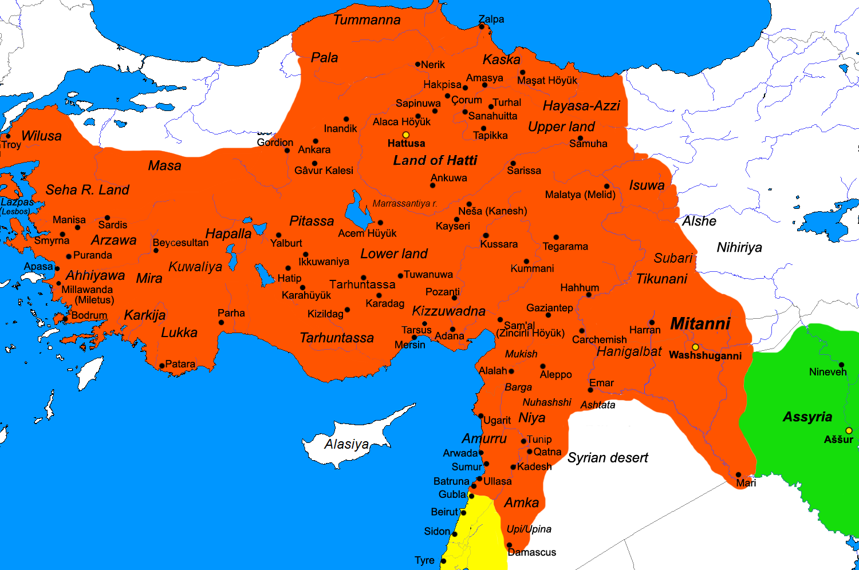 TURQUIE : Economie, politique, diplomatie... - Page 40 Hittite_Kingdom