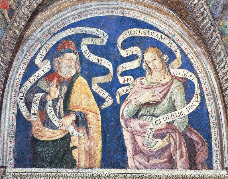 The Prophet Hosea and the Delphic Sibyl Fresco...