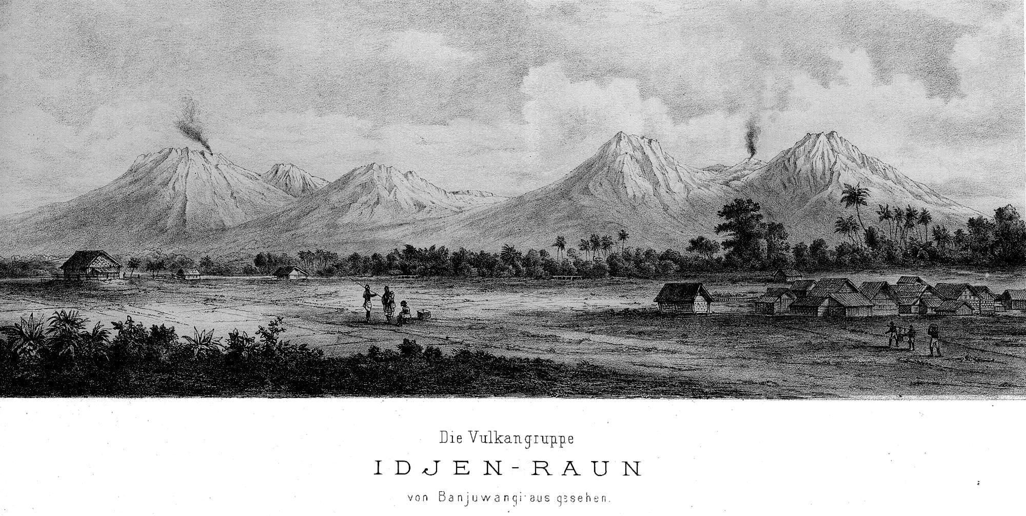 Gunung Ijen dan Gunung Raung di Kabupaten Banyuwangi tahun 1874 ...