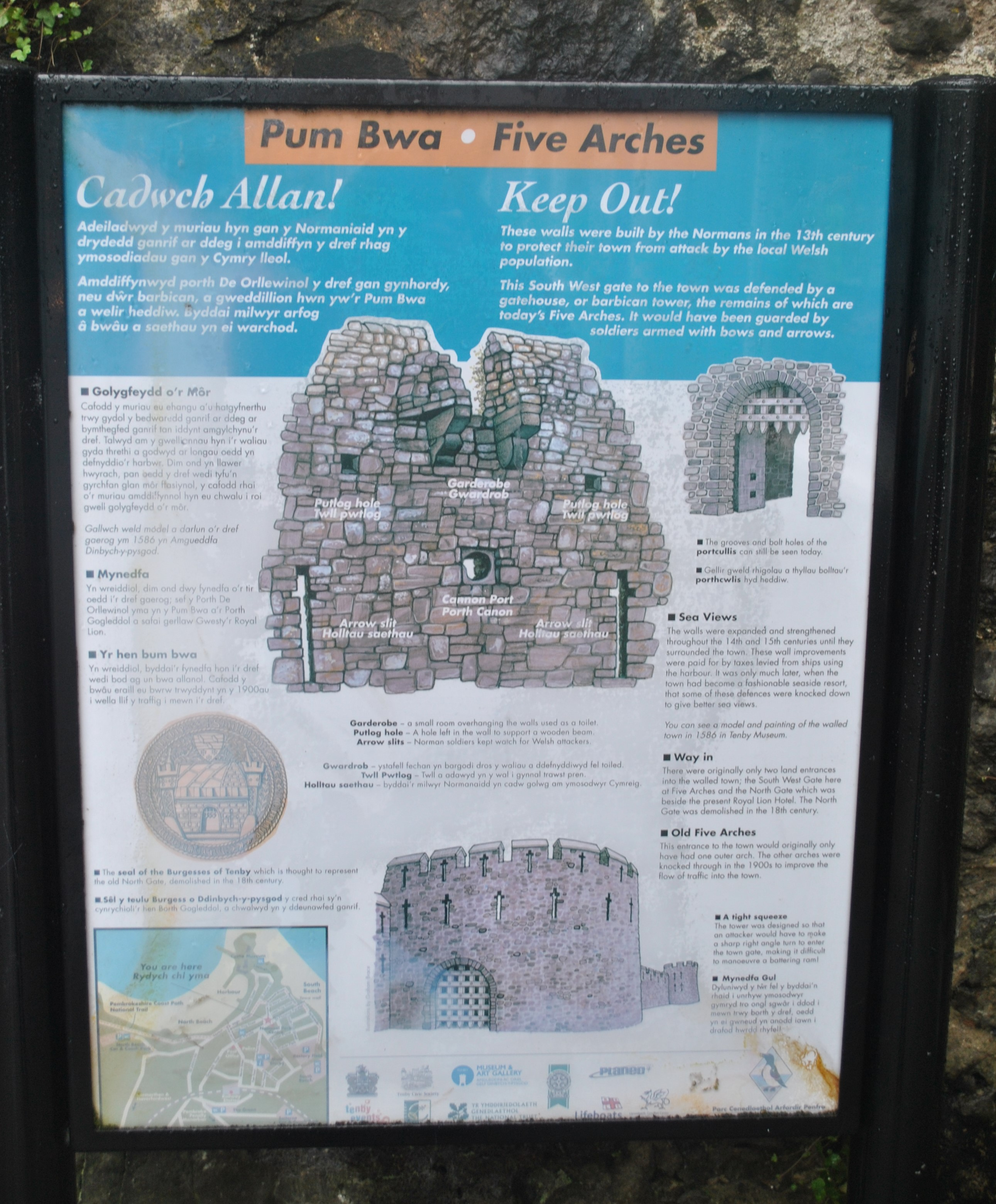Fileinformation Board Of The Five Arches Tenbyjpg Wikimedia Commons